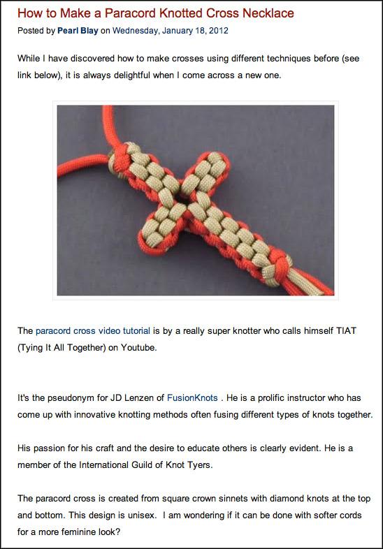 Paracord Project & Celtic Knot Instruction | Fusionknots com